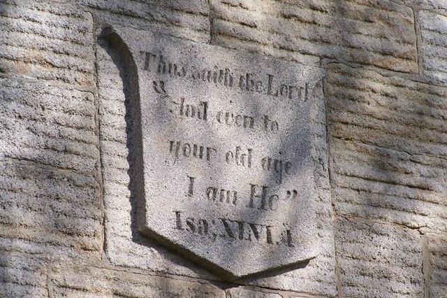 Detail on Hannah Rawson Almshouses, Wadsley