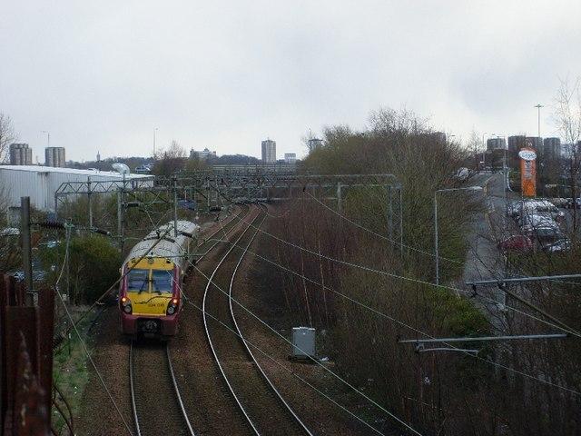 Drumry-bound train