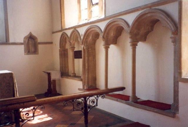 Sedilia, St. Peter's Church, Empingham