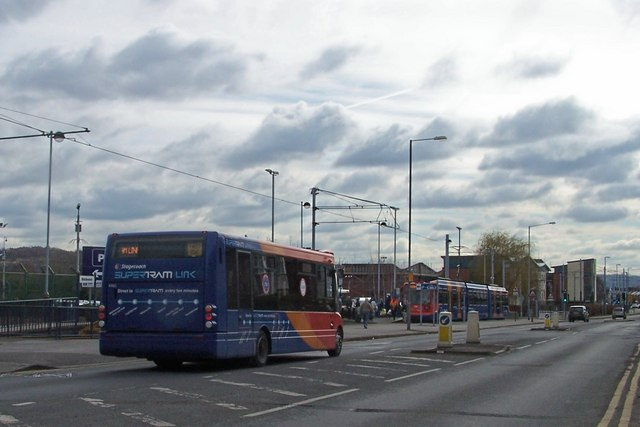 Supertram Link in action at Middlewood Terminus.