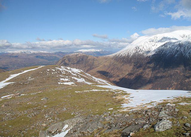 North ridge of Mullach nan Coirean
