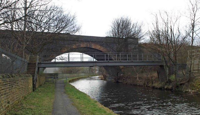 Ricky's bridge over the Huddersfield Broad Canal