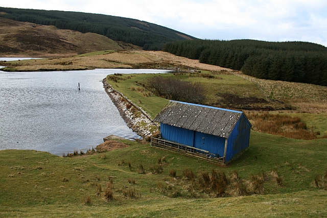 Boathouse and Dam at Killypole Loch