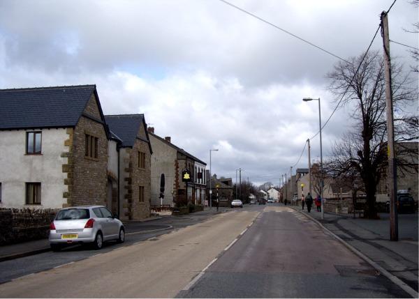 The A6 through Shap Village