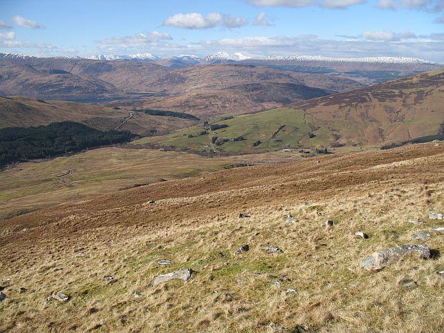 Lower slopes of Meall a' Chaorainn
