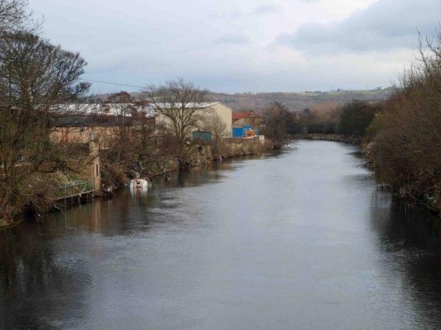 The River Calder from Wood Lane Bridge Battyeford