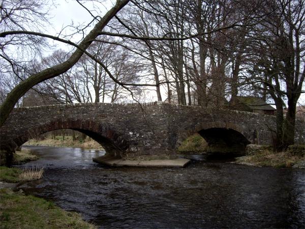Twin bridges over Haweswater Beck.