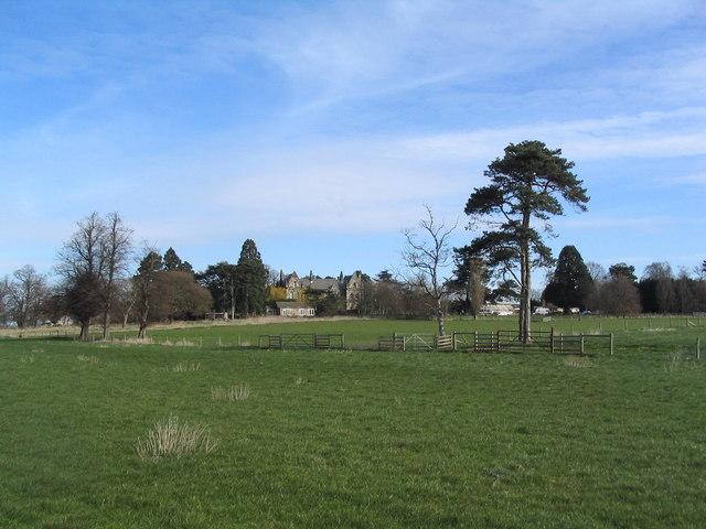 Looking towards Sutton Fields House