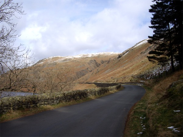The road alongside Haweswater