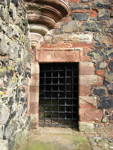 The entrance to Greenknowe Tower