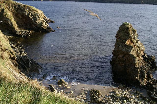 Small beach at Burra Firth