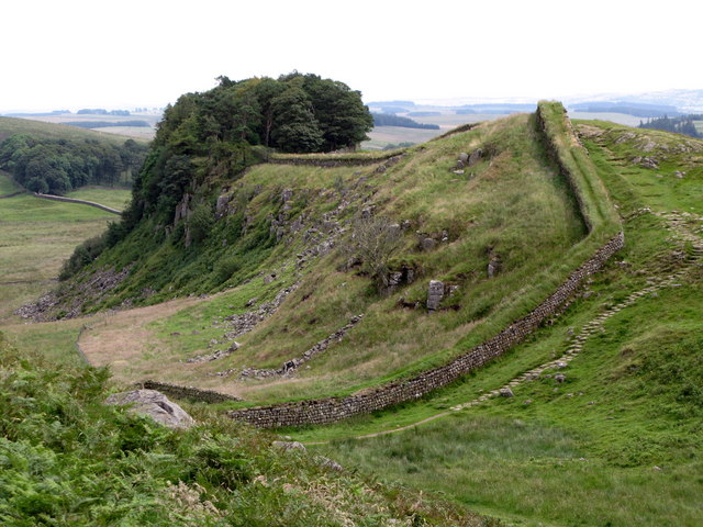 Hadrian's Wall on Housesteads Crags