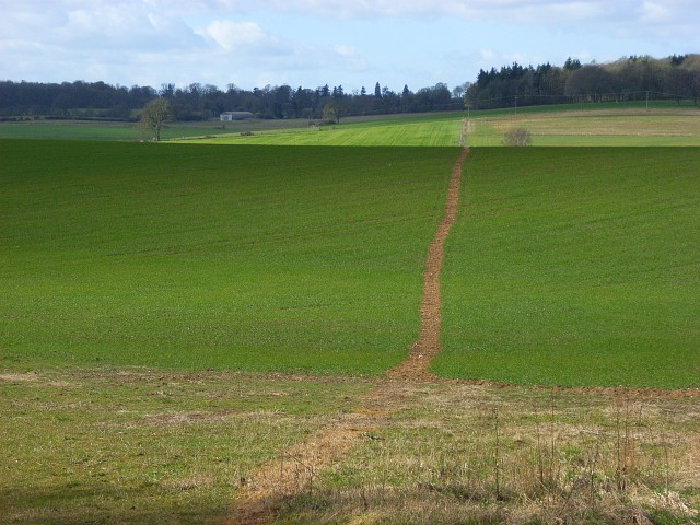 Farmland and footpath, Great Bedwyn