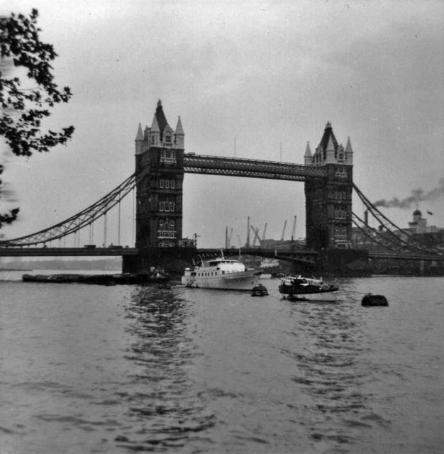 Tower Bridge, London, taken 1968