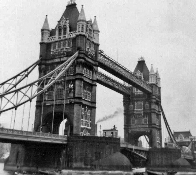 Tower Bridge, London, taken 1968