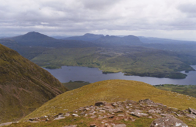 View south west from Quinag