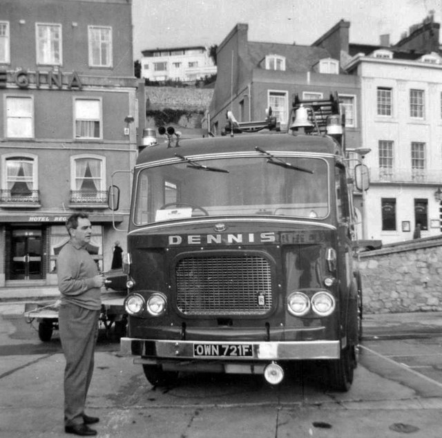 Fire Engine Exhibition at Torquay, Devon, taken 1968