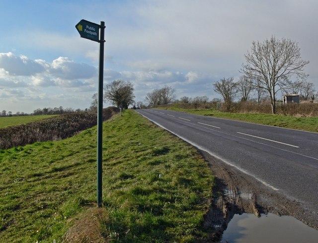 Welford Road towards Arnesby