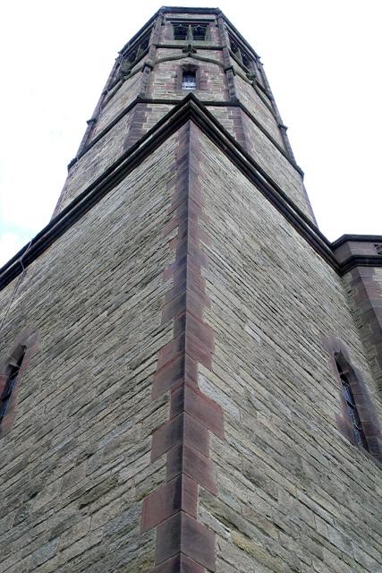Newborough church tower