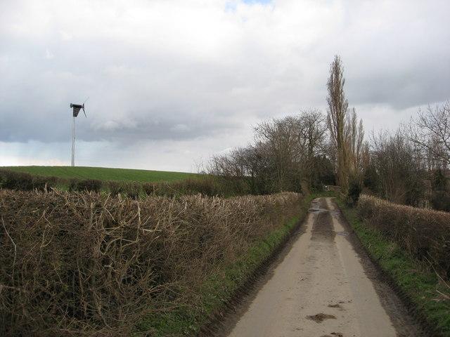 Hazelhurst Lane approaching Povey Farm
