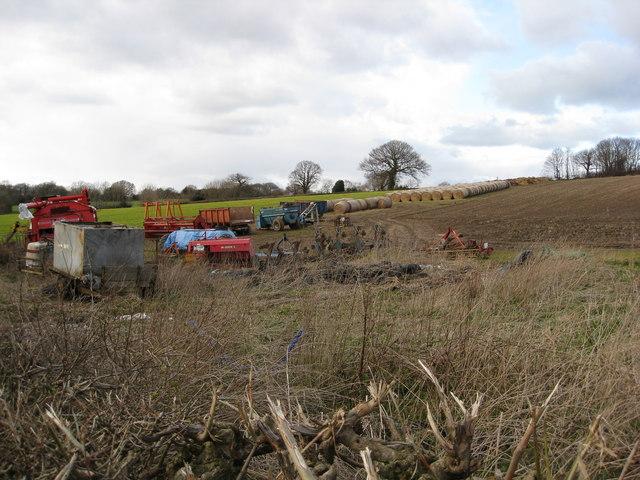 Hazelhurst Farm - Equipment in Field
