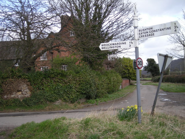 Fingerpost at Aston