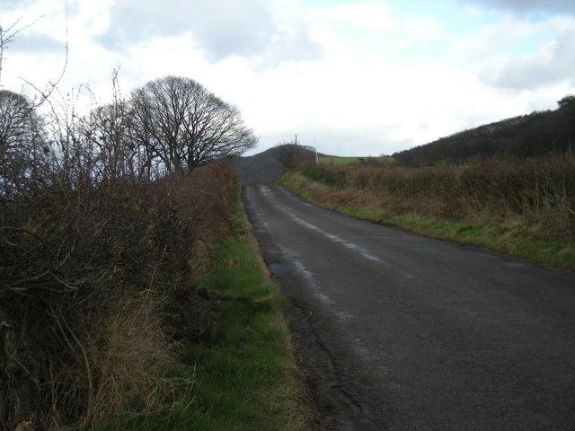 Lane beside 'The Wrekin'