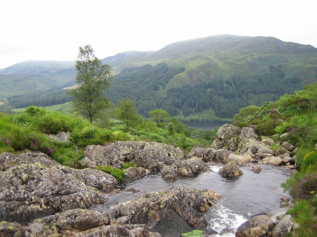 Buchan Burn, Looking down into Glen Trool