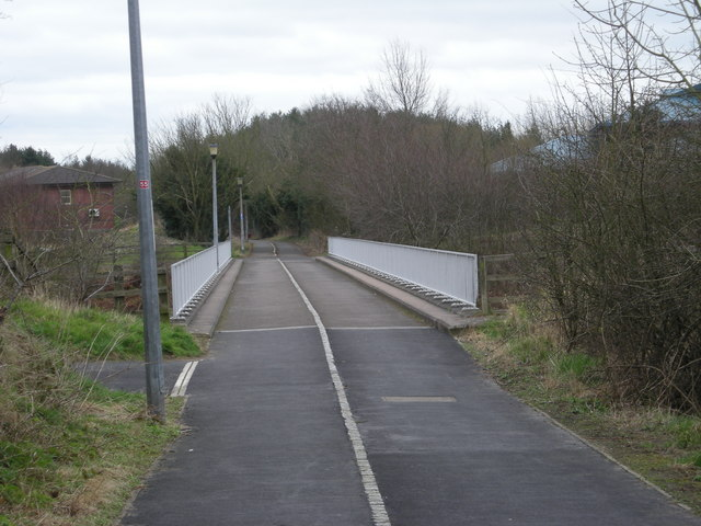Footpath  Cycleway No 55 over the M54