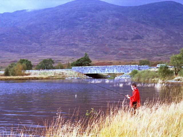 Fishing for pike on Loch Laggan