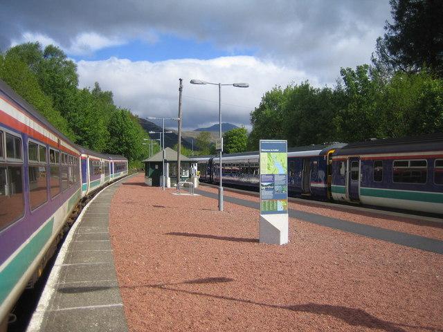 Ardlui Station looking north