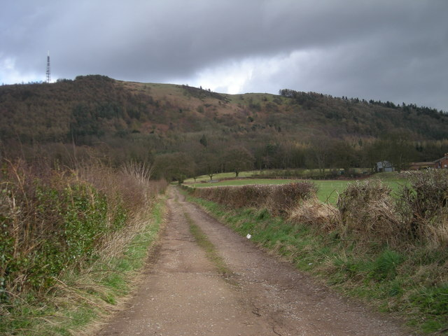 Track to Wrekin Buildings