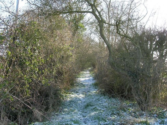 Start of rural footpath