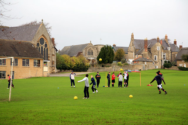Magdalen College School, Brackley: view across the main playing field