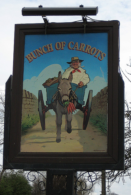 Pub sign, The Bunch of Carrots