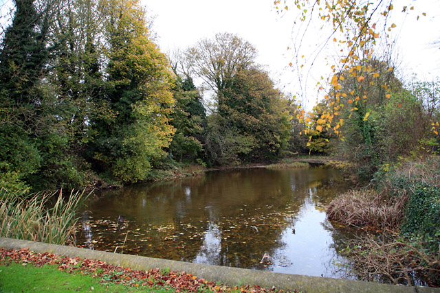 Mediæval Fishpond at Magdalen College School, Brackley, Northants