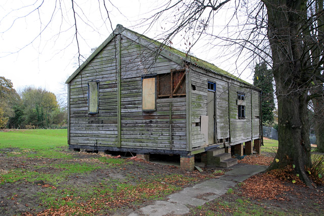 Magdalen College School, Brackley, Northants: the former CCF hut