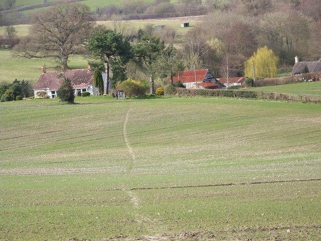 Footpath across the fields, Sutton Mandeville