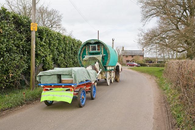Gypsy caravan in Sherfield English Lane