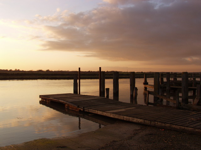 View from Southwold harbour towards Walberswick