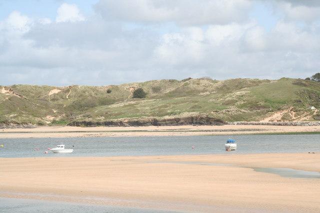 Dunes north of Rock, seen across the Camel estuary