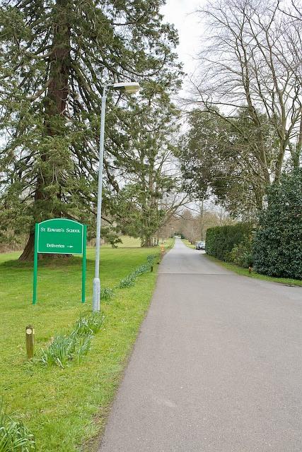 Drive of St Edward's school, Melchet Park