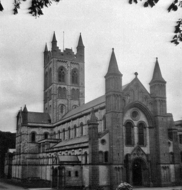 St Mary's Abbey, Buckfast, Devon, taken 1968