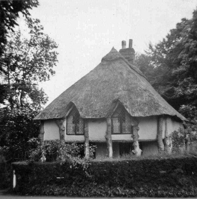 Cottage, Cockington, Devon, taken 1968