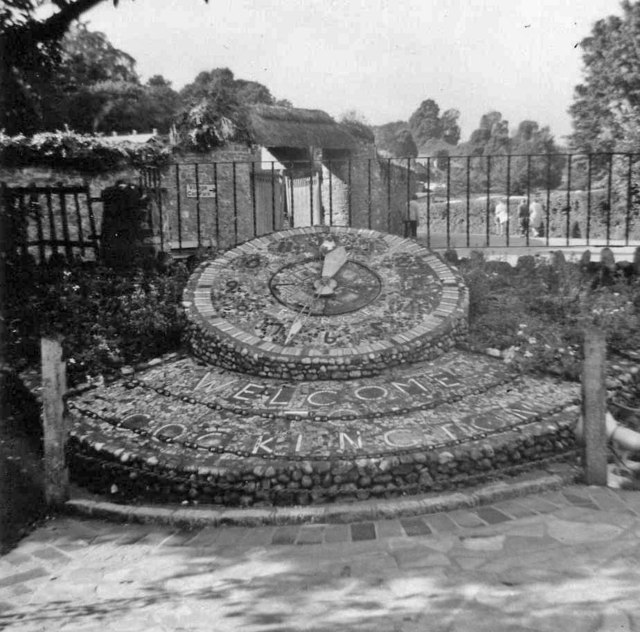 Floral Clock, Cockington, Devon taken in 1968