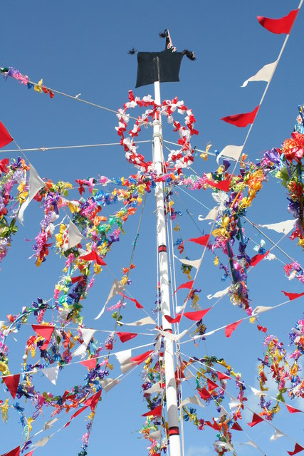 Maypole on May Day in Padstow