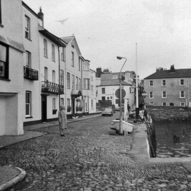 Quayside, Dartmouth, Devon, taken 1968