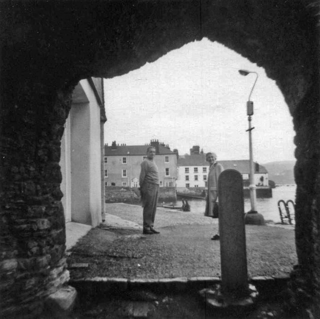 Looking through archway to quayside Dartmouth, Devon, taken 1968