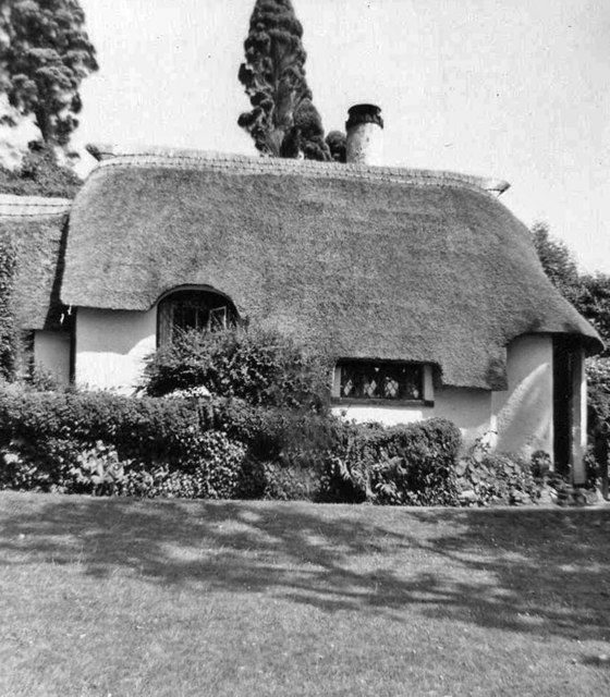 Thatched cottage Selworthy, Somerset, taken 1968