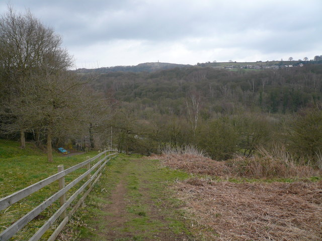 Footpath down to Whatstandwell